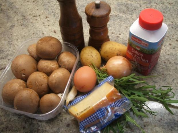 Kartoffeln: Kartoffel-Eierkuchen, herzhaft überbacken - Rezept - Bild Nr. 2