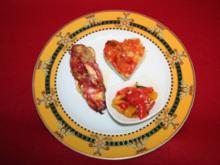 Rote Paprika mit Schafskäse - Rezept