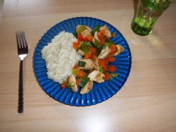 Bunte Hähnchen-Gemüse-Pfanne - Rezept
