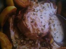 Schweinekoteletts mit Apfel-Calvados-Creme - Rezept