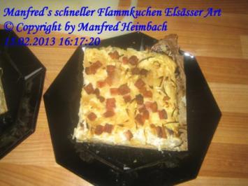 Tartes – Manfred's schneller Flammkuchen Elsässer Art - Rezept