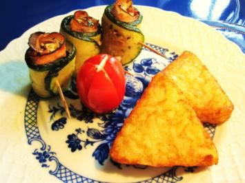 Zucchini-Röllchen - mediterran ... - Rezept