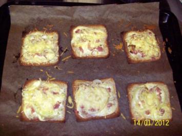 Flammkuchen-Pizza -Toast - Rezept