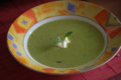 Erbsen-Minze-Suppe - Rezept
