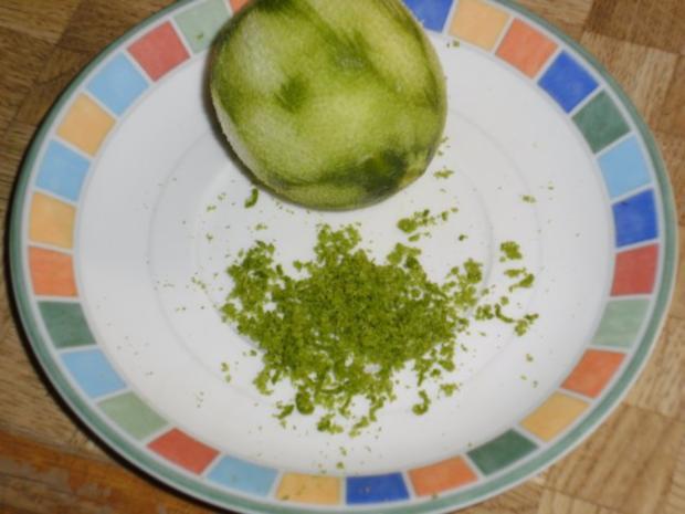 Limetten-Kokosmousse mit beschwipstem Pfirsichkompott - Rezept - Bild Nr. 3