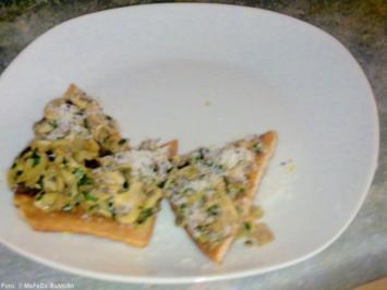 Champignon-Toast-Ecken - Rezept