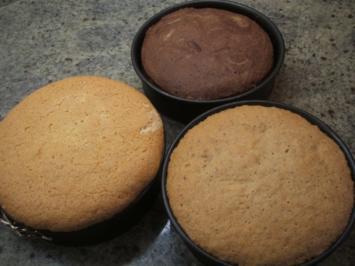 Backen: 3 x Biskuit für kleine Törtchen - Rezept