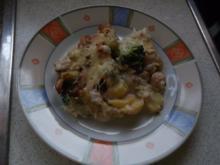 Broccoli-Kartoffel-Hähnchen-Champi-Auflauf - Rezept