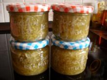 Konfitüre & Co:  Apfel - Zucchini mit Minze - Rezept