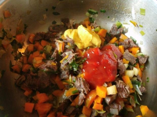 Rindfleischsalat aus der Beinscheibe - Rezept - Bild Nr. 12