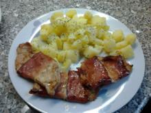 Landrauch Schnitzel mit Salzkartoffeln - Rezept