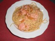 Spaghetti mit geräuchertem Lachs - Rezept