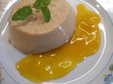 "Dessert: ""Café Latte"" mit Kaktusfeigensoße - Rezept"