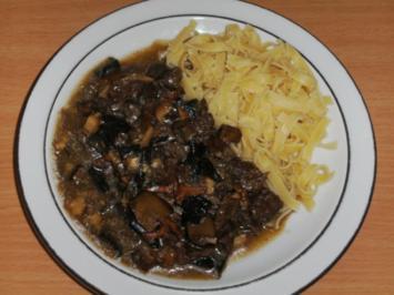 Fleisch: Rinder-Kopffleisch, geschnetzelt - Rezept