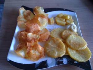 Pommes frites & Chips - Rezept
