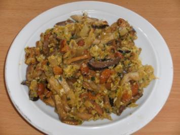 Pilze: Mischpilze mit Ei - Rezept