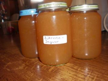 Zitronen-Ingwer-Marmelade - Rezept