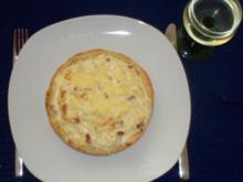 Speck-Zwiebel-Käsekuchen - Einzelportion - Rezept