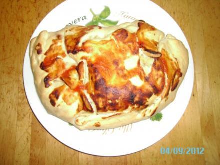 Calzone (mit Pilzen, Salami und Schinken) - Rezept