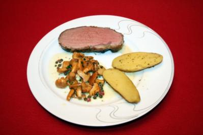 Beefsteak mit grünem Pfeffer - Rezept