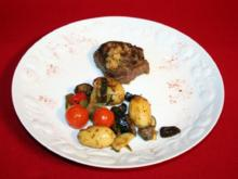 Düsseldorfer Senfrostbraten vom Rinderfilet mit neuen Kartöffelchen und Gemüse - Rezept