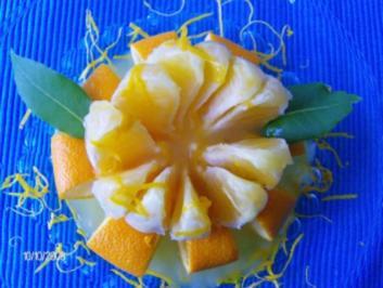 Edle Orangenblüten - ein nicht alltägliches Dessert - Rezept