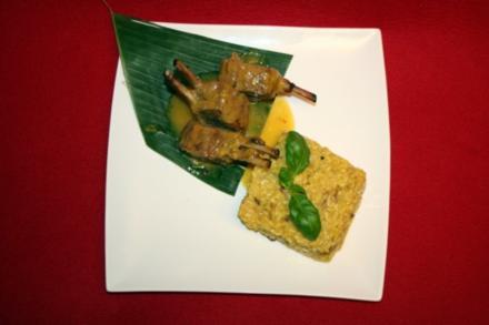 Lammkarree mit einer Honig-Mango-Chili Marinade, dazu Safran-Steinpilz-Risotto - Rezept