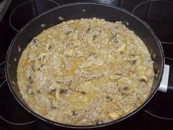 Reisfleisch mit Champignons - Rezept