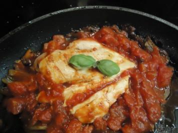 Hühnerbrust in Tomaten - Rezept