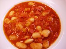 Weiße Bohnen - Eintopf in rot  - - Rezept