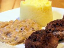 Spitzkohl mit würzigen Bouletten und Kartoffelpüree - Rezept