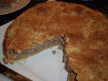 Gedeckter Birnen-Nuss-Kuchen - Rezept