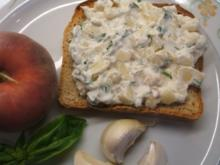 Frischkäse: Knoblauch, Pfirsich und Basilikum - Rezept