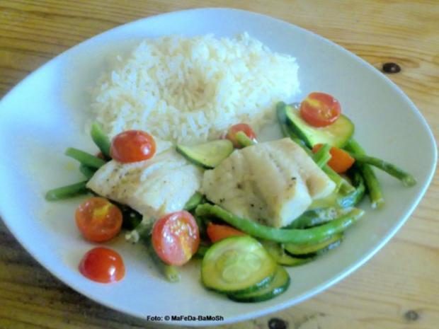 Fischauflauf auf buntem Gemüse - Rezept - Bild Nr. 2