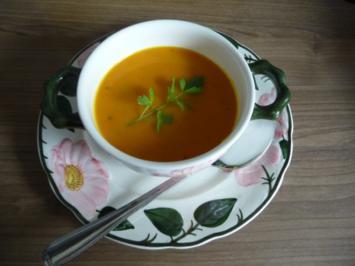 Suppen & Eintöpfe :  Kürbissuppe mit Kokosmilch - Rezept