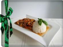 ❈ Geschnetzeltes süß - scharf  und Reis dazu ❈ - Rezept