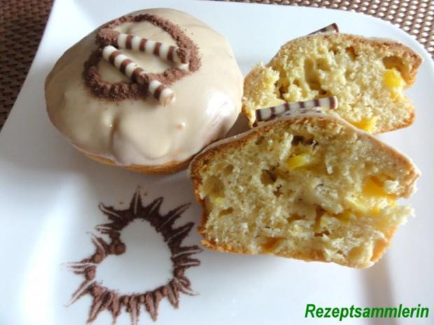 Muffin:   MANGOMUFFIN mit Mandelglasur - Rezept