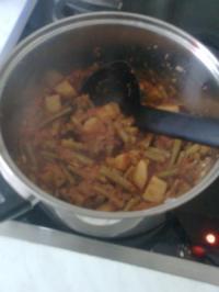 Grüne Bohnen mit Kartoffeln - Rezept
