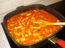 Gemüsepfanne mit Putenstreifen - Rezept