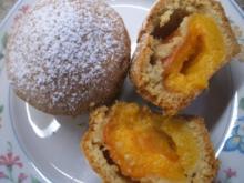 Backen: Muffins aus Mürbteig mit fruchtiger Füllung - Rezept