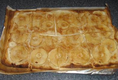 Apfel-Flammkuchen - Rezept