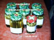 KNOBLAUCH  -  ZUCCHINI  -  EINGELEGT - Rezept