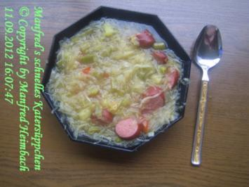 Suppen – Manfred's schnelles Katersüppchen - Rezept
