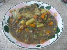 Suppen & Eintöpfe : Linsensuppe mit Maultasche - Rezept