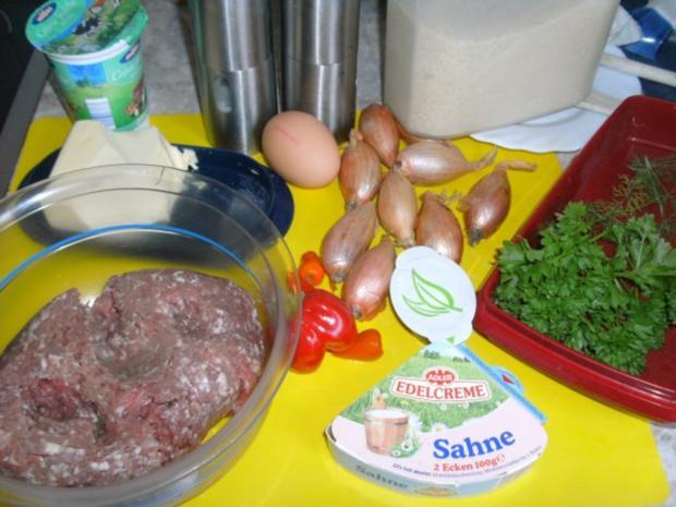 Fleischbällchen mit Zwiebeln und Pfefferschoten - Rezept - Bild Nr. 2