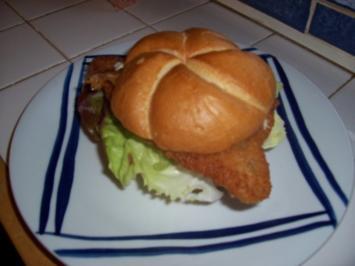 Fisch-Burger einwenig umgeändert - Rezept
