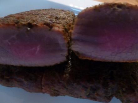 """""""Fast"""" perfekte marinierte NT Lammlachse mit Wildkräuterkruste - Rezept"""