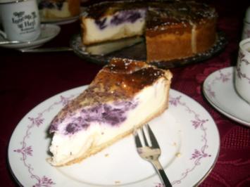 Quark-Heidelbeer-Wirbel-Torte>> - Rezept