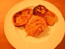 Kartoffel - Krapfen  mit Kürbiskraut - Rezept