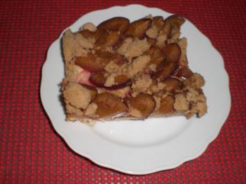 Zwetschgenkuchen mit Streußel - Rezept
